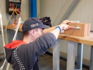 Elektroinstallateur-Lehrling Robin Widmer